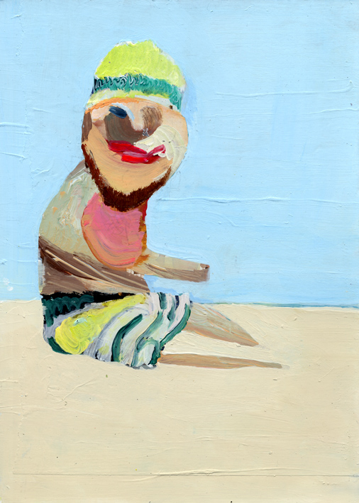 heiko hoefer, BEACH, acrylic on paper, 2017