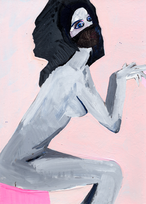 heiko hoefer, Male soul, acrylic on paper, 2017