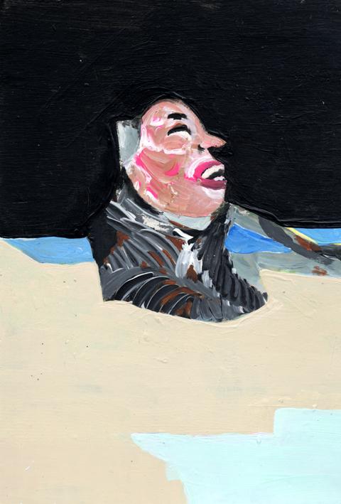 mentalogital, heiko hoefer, Homo deus, acrylic on paper, 2017