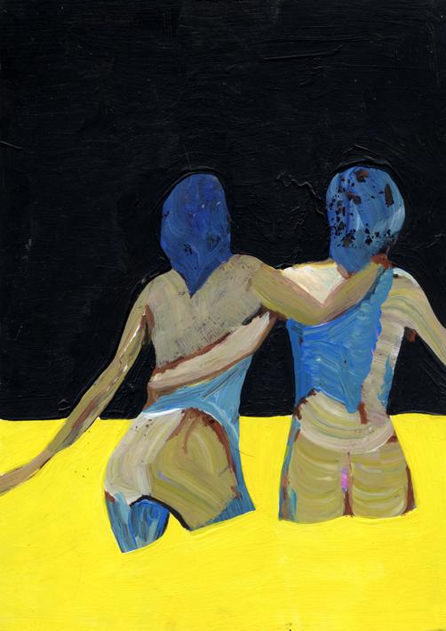 observismus, observism, heiko hoefer, Poor, acrylic on paper, 2017