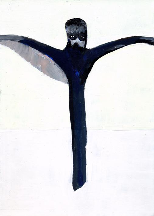 observismus, observism, heiko hoefer, Spirit of Ecstasy, acrylic on paper, 2017