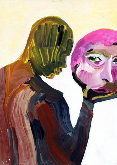 observismus, observism, heiko hoefer, Vasari, acrylic on paper, 2018