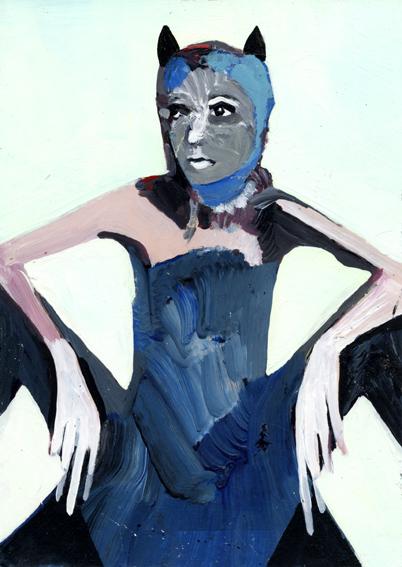 observismus, observism, heiko hoefer, Bat, acrylic on paper, 2018