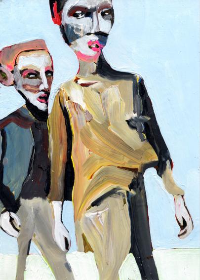 observismus, observism, heiko hoefer, Wanderer, acrylic on paper, 2018