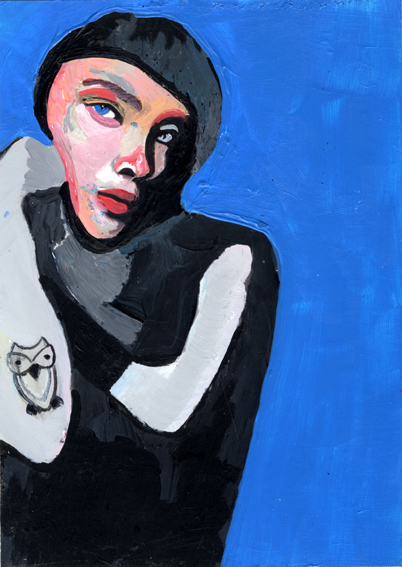 observismus, observism, heiko hoefer, Owl of Minerva, acrylic on paper, 2018