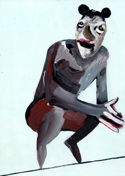 observism, observismus, heiko hoefer, Transhuman, acrylic on paper, 2018