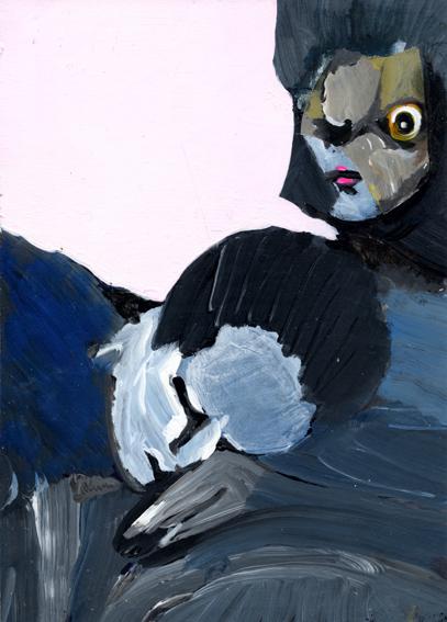 observismus, observism, heiko hoefer, Restfulness, acrylic on paper, 2018