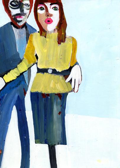 observismus, observism, heiko hoefer, Inbetweeners, acrylic on paper, 2018