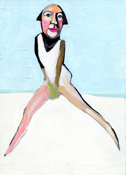 heiko höfer, High fashion, acrylic on paper, 2018