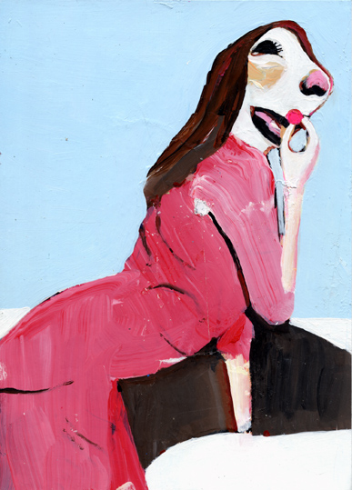 heiko höfer, Pink pill, acrylic on paper, 2018