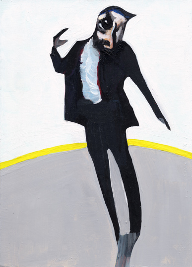 heiko höfer, acrylic on paper, 2018