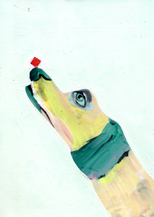 observism, observismus, heiko hoefer, Lemme, acrylic on paper, 2018
