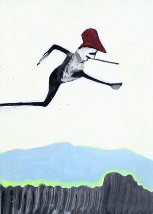 heiko höfer, Parkour, acrylic on paper, 2018