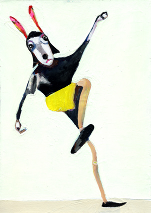 observism, observismus, heiko höfer, Hippity hoppity, acrylic on paper, 2018