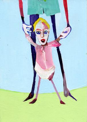 heiko höfer, Designer baby, acrylic on paper, 2018
