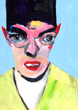 observism, observismus, heiko höfer, Digital identity, acrylic on paper, 2018