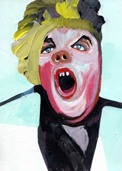 heiko höfer, The scream, acrylic on paper, 2019