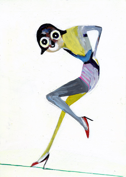 heiko höfer, Catwalk, acrylic on paper, 2019