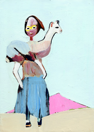 heiko höfer, Sheepherder, acrylic on paper, 2019