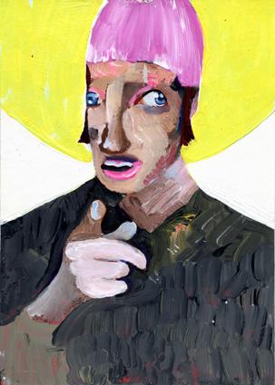 heiko höfer, Feed me, acrylic on paper, 2020