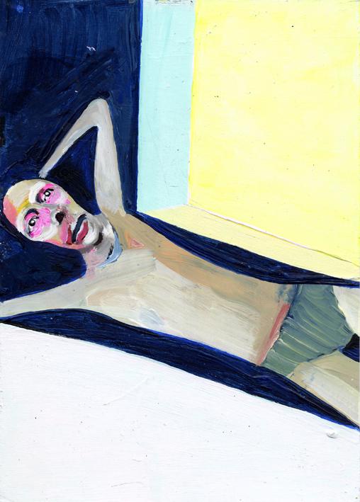 heiko höfer, Shut down, acrylic on paper, 2020