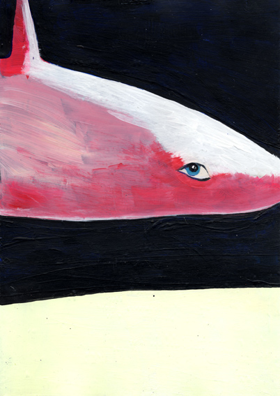 heiko höfer, Leviathan, acrylic on paper, 2020