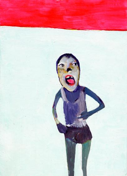 heiko höfer, Social experiment, acrylic on paper, 2020