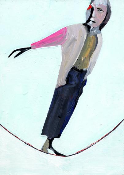 heiko höfer, Risk on mode, acrylic on paper, 2020