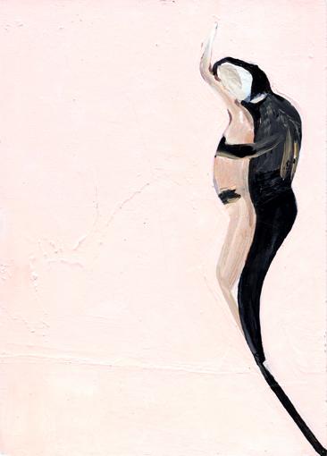 heiko höfer, Flower, acrylic on paper, 2020