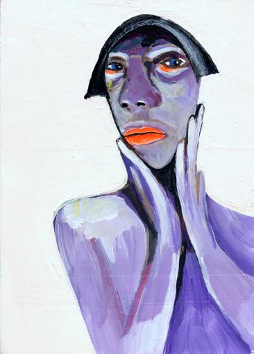 heiko höfer, Flashcrash, acrylic on paper, 2020