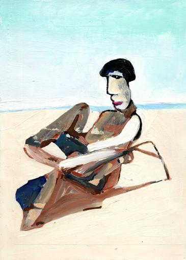 heiko höfer, Little corona beach, acrylic on paper, 2020