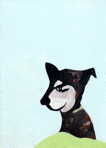 heiko höfer, Hackable animal, acrylic on paper, 2020