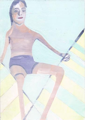 heiko höfer, Whiteout, acrylic on paper, 2020