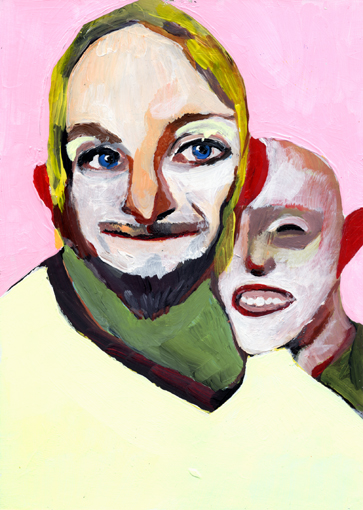 heiko höfer, Kama muta, acrylic on paper, 2020