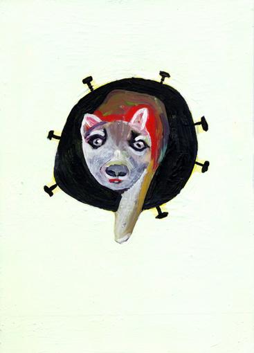 heiko höfer, Death star, acrylic on paper, 2020