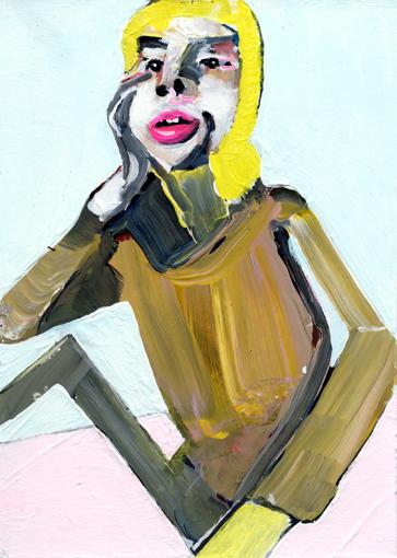 heiko höfer, Viral painting, acrylic on paper, 2020