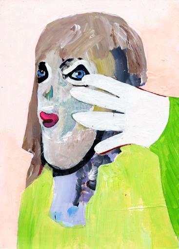 heiko höfer, Mona, acrylic on paper, 2020