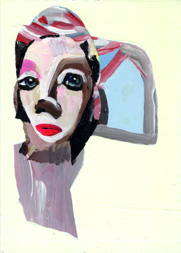 heiko höfer, Piece of heaven, acrylic on paper, 2020