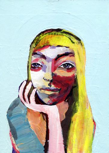 heiko höfer, Human, acrylic on paper, 2020