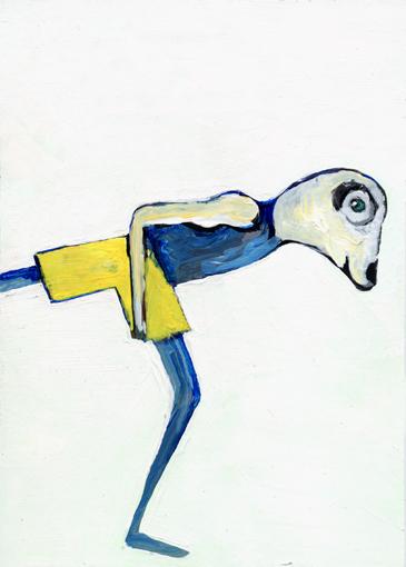 heiko höfer, Spirit animal, acrylic on paper, 2020