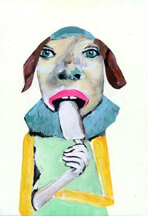 heiko hoefer, Sed quis custodiet ipsos custodes, acrylic on paper, © 2021